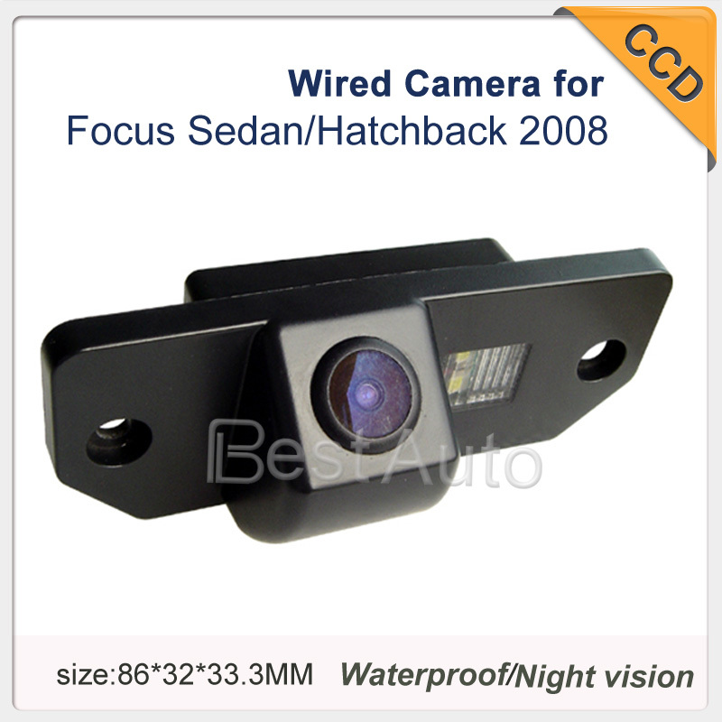 4pc Car Parking camera for Ford Focus Sedan(3)/Hatchback(2) 2008 Night Vision Wired Car Camera for GPS/DVD optional Camera(China (Mainland))