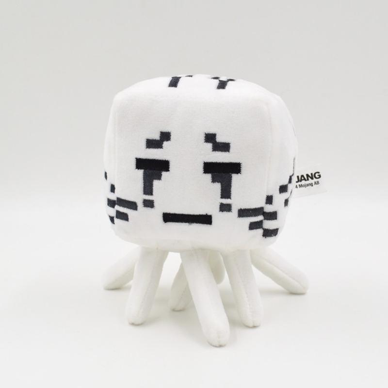 1PC Mine-craft Stuffed Plush Toy Animals Cartoon Toys Ghast Cow Wolf Spider Bat Zombie Creeper Children Toy