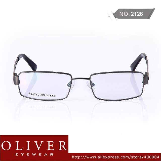 2013 New Fashion Superior Quality Brand Optical Frame For Men Stainless Steel Full Rim Eyewear Frame 2126 Free Shipping!
