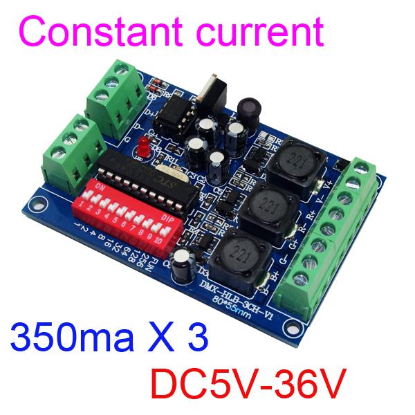 Здесь можно купить  10 pieces free shipping constant current 350ma High-power 3CH DMX512 decoder For led flood light LED Wall washer lamp  Электротехническое оборудование и материалы