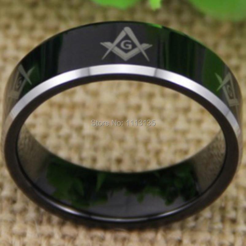 Freemason Ring For Sale Black Bevel Freemason Ring