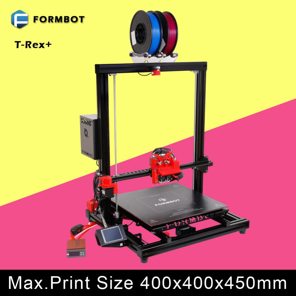 dropshipping diy 3d metal printer black framework touch display oversized 3d printer(China (Mainland))
