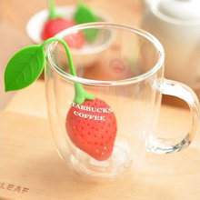 Red Strawberry Shape Tea Leaf Bag Holder/Loose leaf Infuser Reuseable Food Safe Silicone