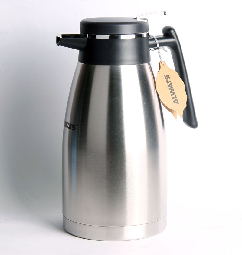 Vacuum Coffee Maker Metal : New style 2L Stainless Steel Thermos Vacuum Coffee maker, Double Layers coffee pot,ALWAYS ...
