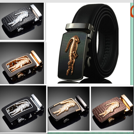 Leather crocodile model of commercial crime belt designer luxury brand belt male high quality jeans trousers belts for men(China (Mainland))