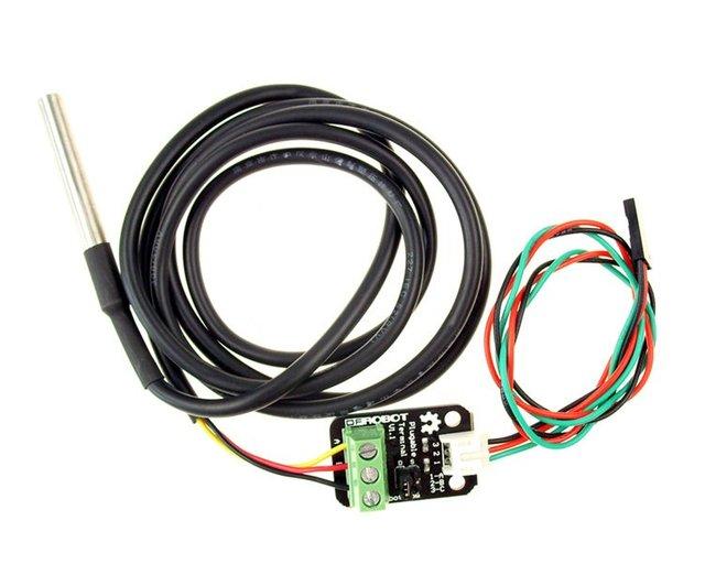 Free shipping,10PCS New Waterproof DS18B20 Temperature Sensor Kit Thermometer Probe + Plugable Terminal