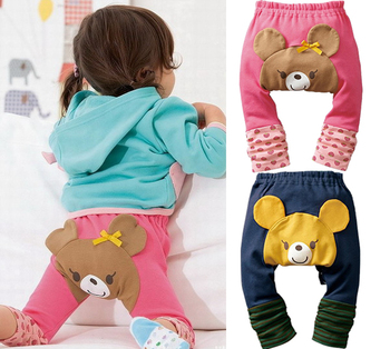 Kids Toddler Infants Baby Girl Boy Clothes Tights Girls Leggings Cute Bear PP Pants Trousers Children Clothing Ropa de Bebe