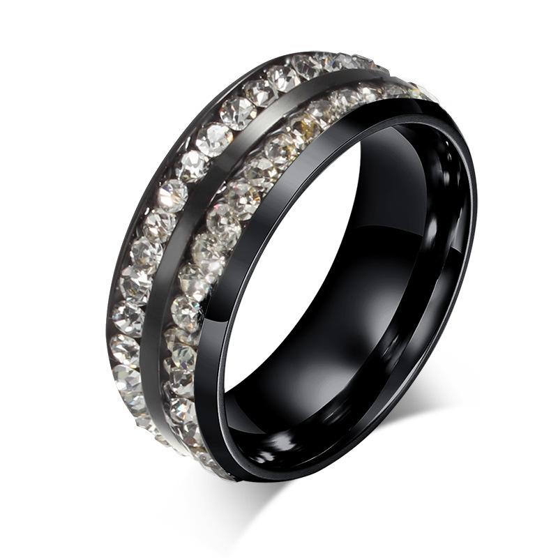 Online Get Cheap Black Ring Mens Wedding Band Cz Aliexpresscom