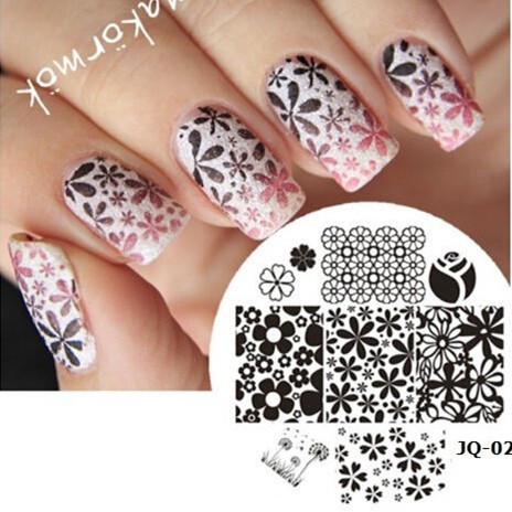 1 Piece Nail Art Polish DIY Stamping Plates Image Templates Nail Stamp Stencil Beauty Decorations Manicure Tools (JQ-02Z)(China (Mainland))