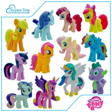 12PCS/lot MLP Vinyl Dolls Cute Little Horse Twilight Sparkle Action Toy Figures Pinkie Pie model Birthday Gifts for Girls(China (Mainland))