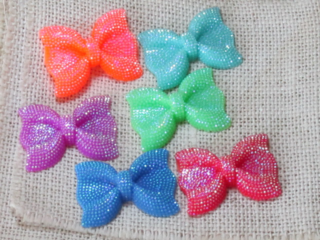 18pcs/lot flat back resin resin bow ,DIY resin craft accessories fashion resin cabochons(China (Mainland))
