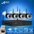 Newest 720P HD Outdoor Home 36IR Wireless CCTV Camera Kit Plug And Play 4CH Security NVR