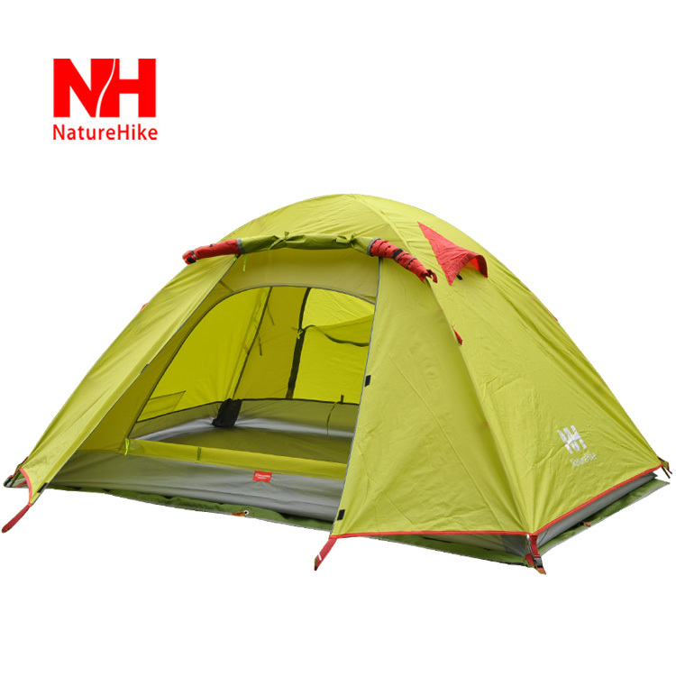 New Arrived 210*160*115 cm Double Layer 3-4 Person Outdoor Camping Hike Travel Tent - NatureHike(China (Mainland))