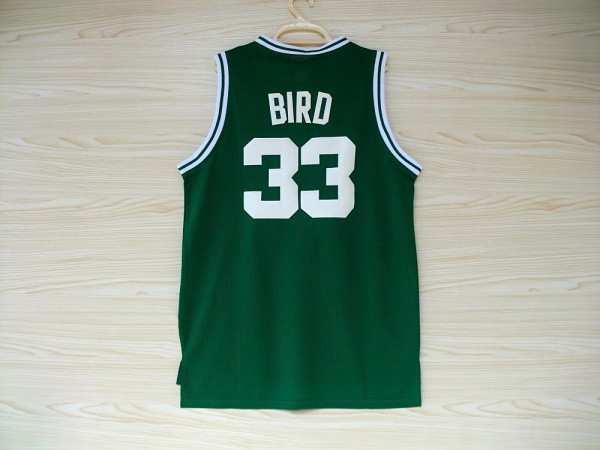 Stitched Boston #33 Larry Bird Basketball Jersey,Wholesale Throwback Larry Bird Jersey,Cheap Embroidery Green/White S to XXXL(China (Mainland))
