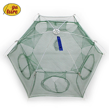 New Folded 6 holes 80cm or 100cm Floding Crab fish Minnow Landing net Fishing Trap Cast Net(China (Mainland))