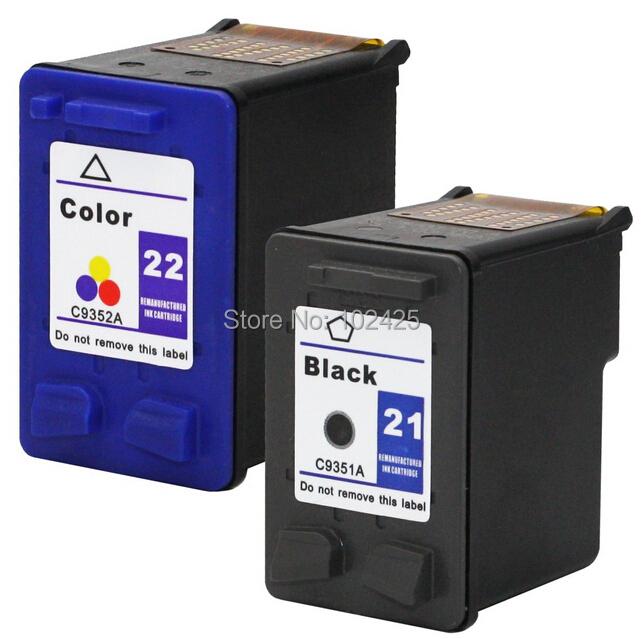 For HP Cartridges 21 and 22 For HP F380 F2100 F2110 F2240 F2280 F2250 F4100 3915 3920 D1530 Printer Cartridge For HP 21 22(China (Mainland))