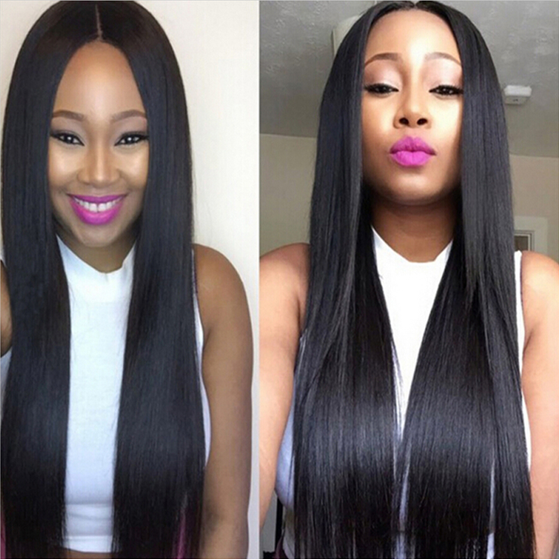 Mink 7A Indian Virgin Hair Straight 3 Bundles 100g/pc Unprocessed Indian Virgin Hair Straight 100% Indian Human Hair Weave #1B