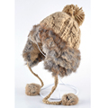Fashionable winter hats for women bombers hat real fur Rabbit Fur gorras Knitting wool Casual cute