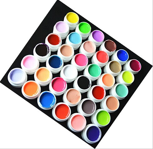 36 pcs Colors Pure Colour uv gel, Uv gel Set, Builder Gel for nail Varnish art tools(China (Mainland))