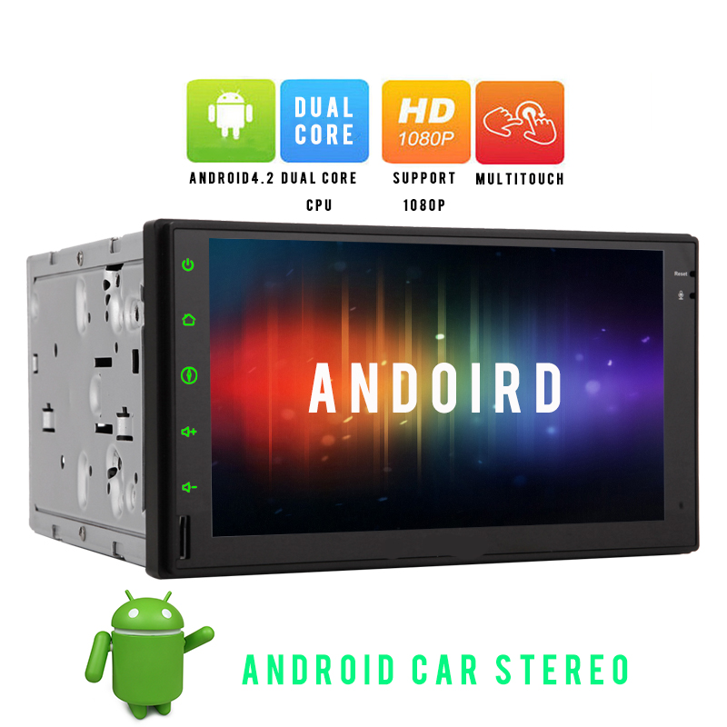 Universal Double 2 Din Android 4.2 Car Electronics Radio Headunit 7'' Touch Screen GPS Navigation Stereo NO-DVD Player Bluetooth(China (Mainland))