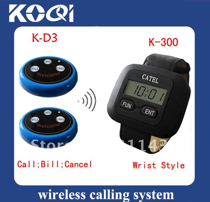 Wireless Call Calling Waiter Server Paging Service System for Restaurant Pub Bar etc , Free Shipping by EMS/DHL(China (Mainland))