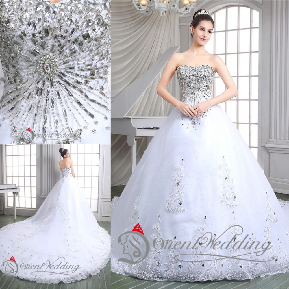 Sparkly luxury 2015 bling sweetheart lace up country for Lace sparkle wedding dress