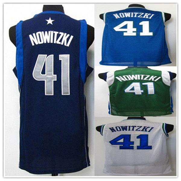 Free Shipping Dallas #41 Dirk Nowitzki Basketball Jerseys Brand Logos German Tanks Basketball Clothing Men Sportswear(China (Mainland))