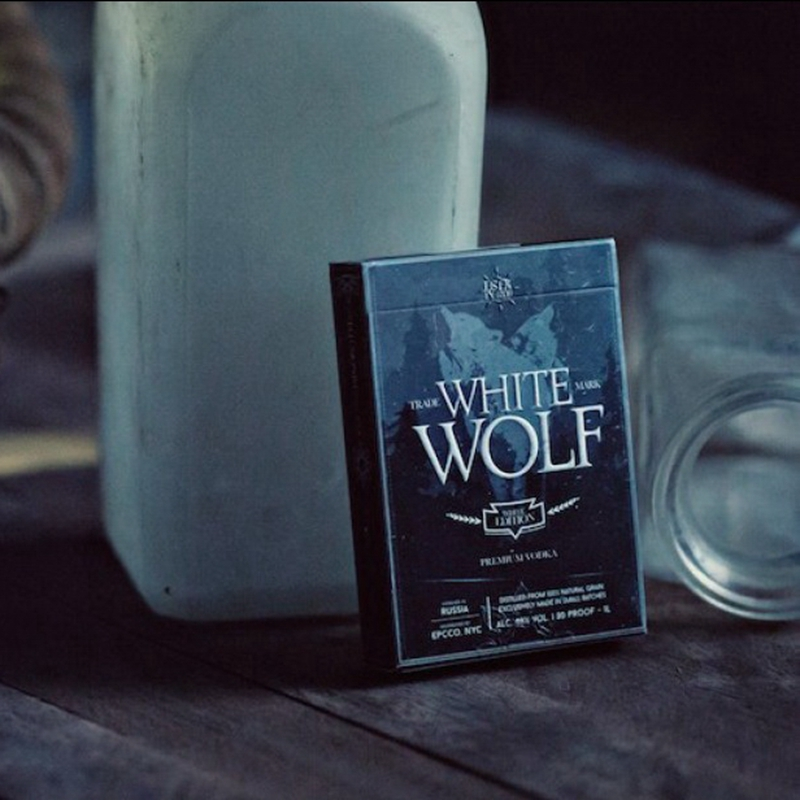 1 Deck White Wolf Vodka Playing Cards by Ellusionist Prohibition Series Magic Tricks(China (Mainland))