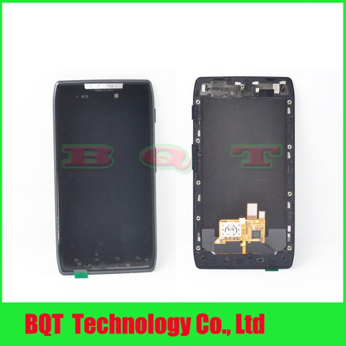 LCD Display + Touch Screen Digitizer + Bezel Frame Assembly For Motorola Droid Razr XT910 XT912 DHL Free shipping(China (Mainland))