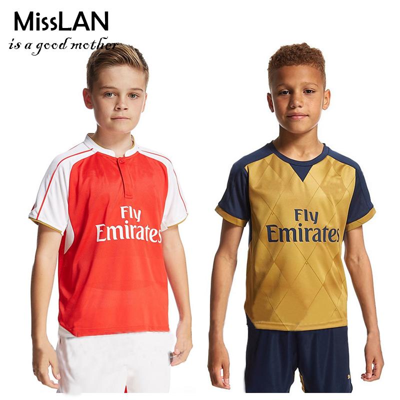 Best Thailand Quality Children 2016 ALEXIS Short Suit,OZIL GIROUD Kids Size Shirt+Short,2-12Y Boys Summer Athletic Wear<br><br>Aliexpress