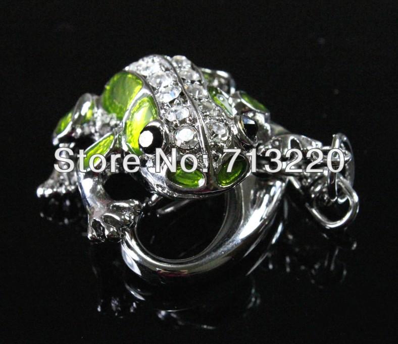 16GB Pendrive 2015 New Pen Drive Cute Crystal Frog Key Ring 16G Jewelry USB Drive Memory Flash Brand New Free Shipment(China (Mainland))