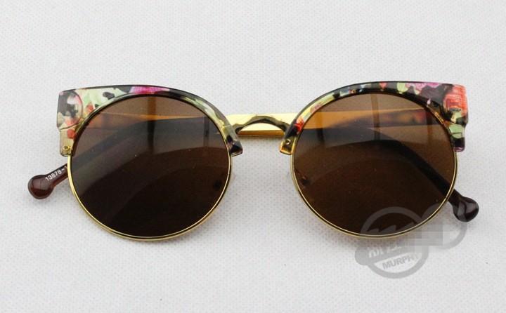 2015 Hot Sale Cat Eye Semi-Rim  Eyewear Eyeglasses Vintage Retro Cat