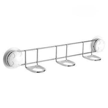 Hot sale !  bathroom kitchen stainless Steel three adhesive bath bottle hook holder  --FREE SHIPPING