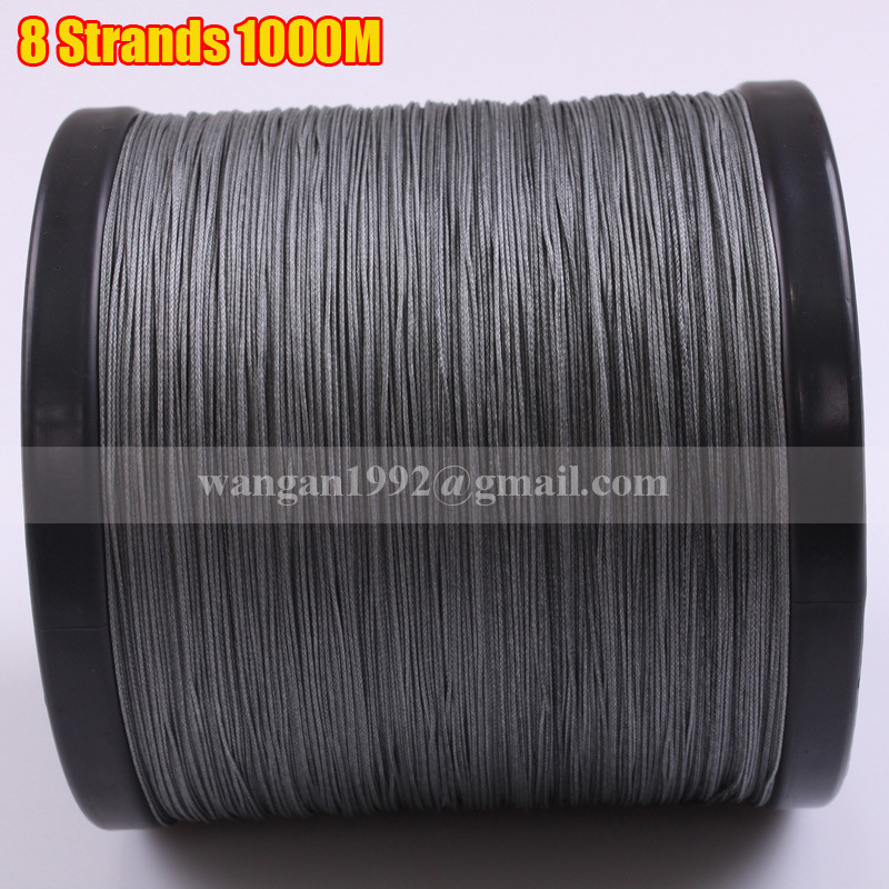 8 strands 1000m 1094yds 90lb gray pe braided fishing On best braided fishing line saltwater