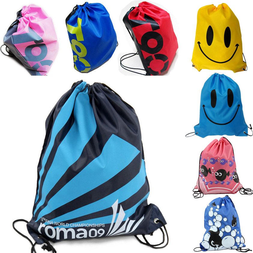 fashion Sandy Beach 2015 Oxford Swimming Bag Portable Pocket Backpack Resort Drawstring Unisex Sport Gym For Women Swim(China (Mainland))