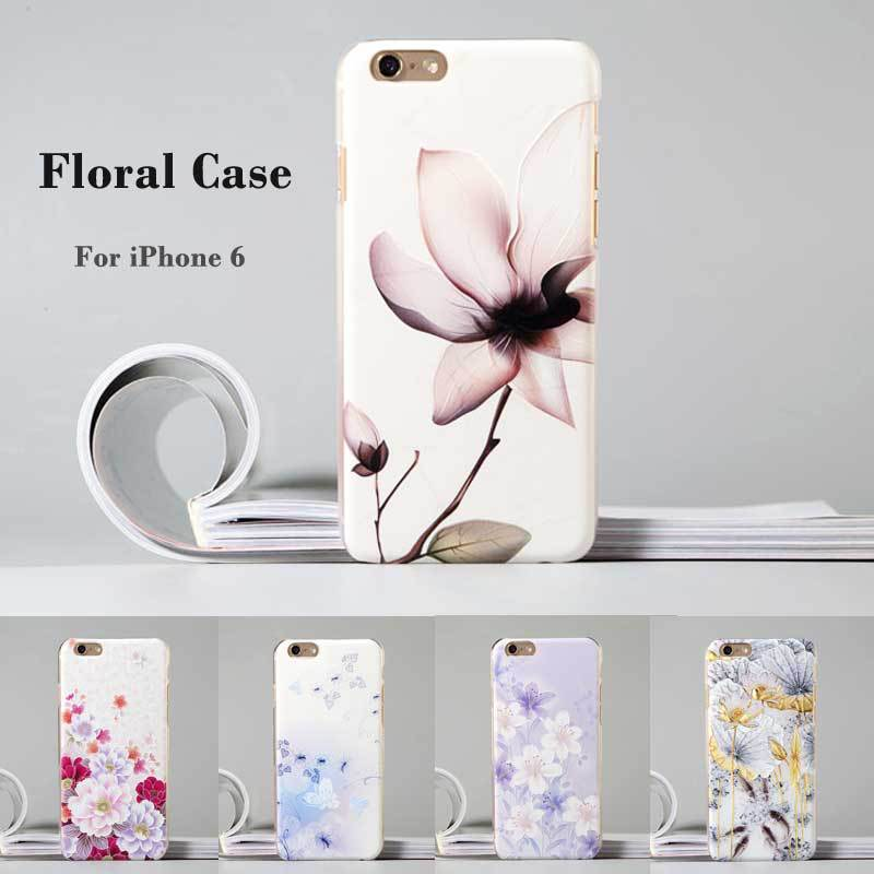 "Fashion Luxury Flower Painted 3D Relief sFor Apple iPhone 6s 6 iPhone6 4.7"" Case For iPhone 6s 6 Flower Cell Phone Case Cover(China (Mainland))"