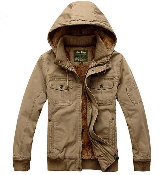 Winter Men Hooded Jacket With Thick Warm Warm Cotton Casual Fashion Outdoor Warm Sport Parkas Plus Size 3XL  Sport Coat Parkas