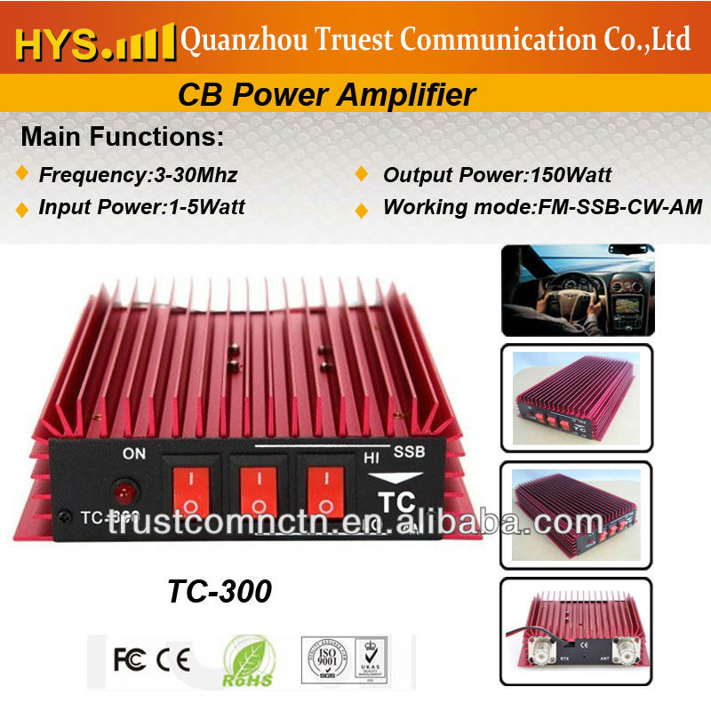 New Design 150W RF CB Power Amplifier with FM-SSB-CW-AM Free Shipping(China (Mainland))