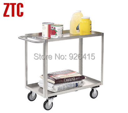 Stainless steel production trolley,industrial metal carts with wheels,platform structure hand truck,rolling storage hand cart(China (Mainland))