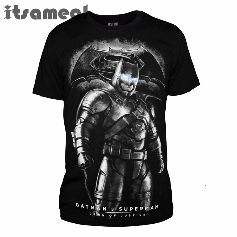 Hero Batman VS Superman T Shirts Man shirt milk fiber Tshirts - ANHUI RUIQIQIAN TRADE CO,. LTD store