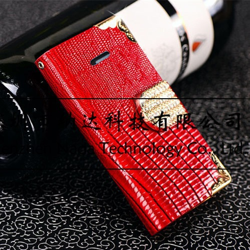 Luxury Wallet Stand Flip Leather Diamond Case Cover For iPhone 6 Plus 5.5 4.7inch Card Slot Phone Bag for iPhone6 100pcs/lot
