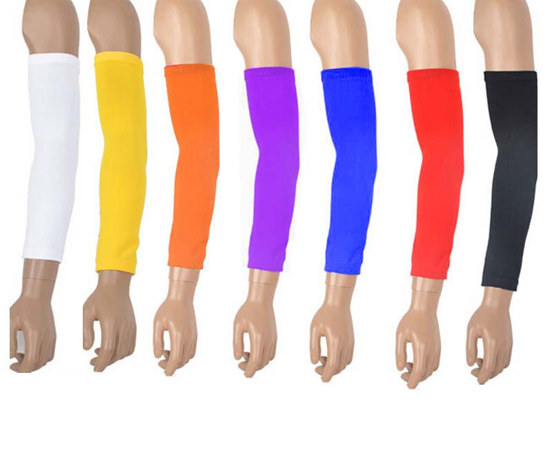 1 pair Nylon Sports Gear Basketball arm Guard extended Elbow Support Armband knee pads 7 Colors(China (Mainland))