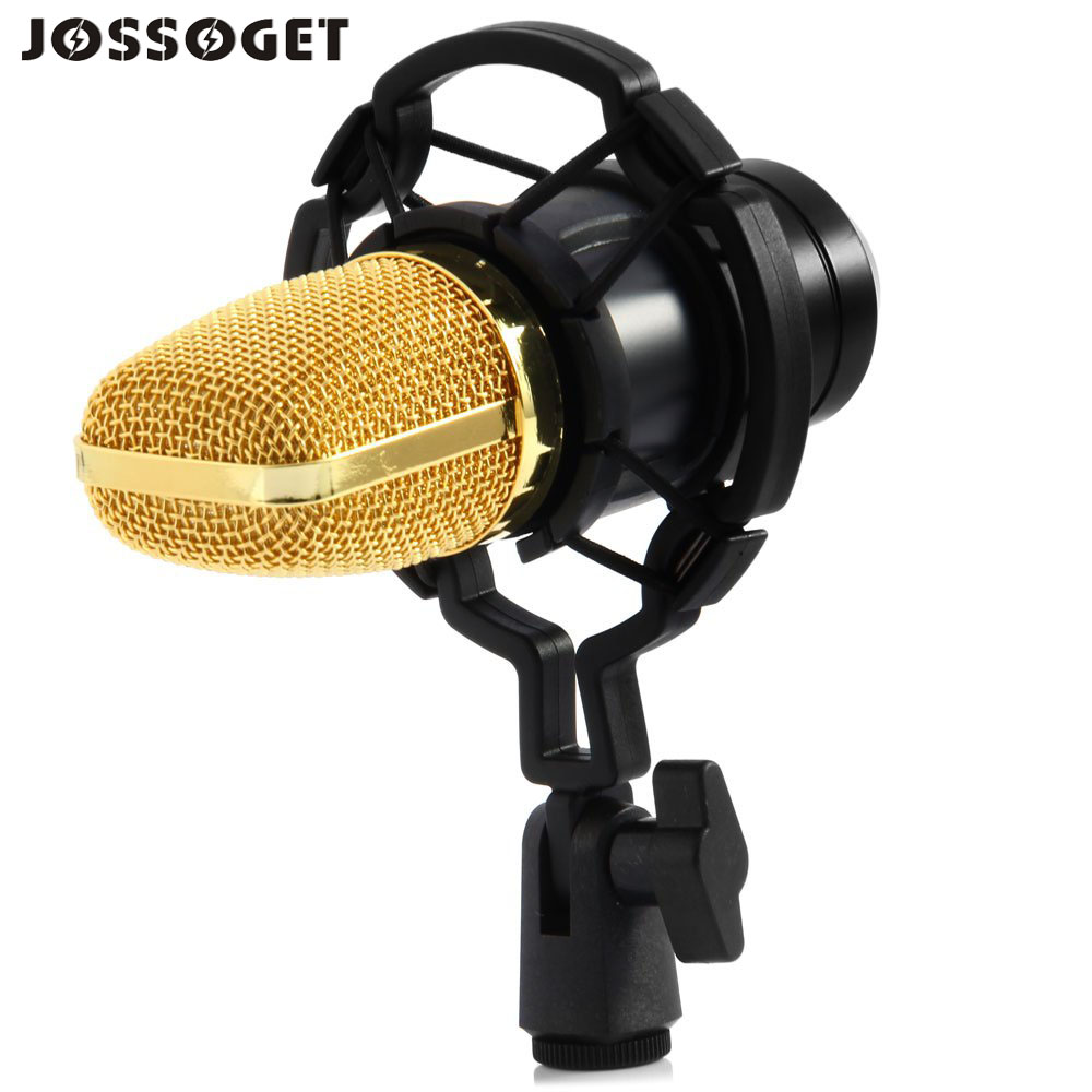 BM - 700 Condenser Sound Recording Microphone with Shock Mount for Radio Braodcasting Bass-reduction switch reduces room noise<br><br>Aliexpress