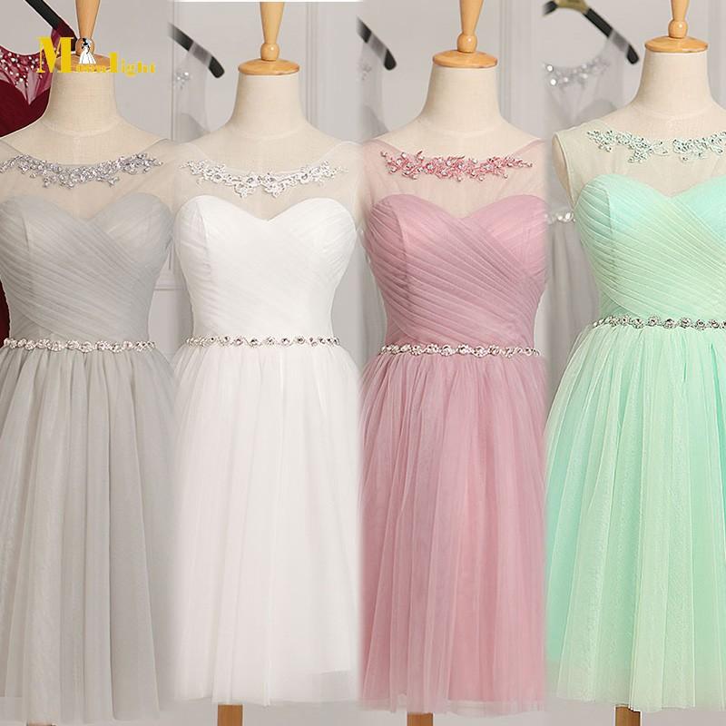 Bridesmaid dress jb36 new arrival cheap 2016 tulle short for Tulle skirt under wedding dress