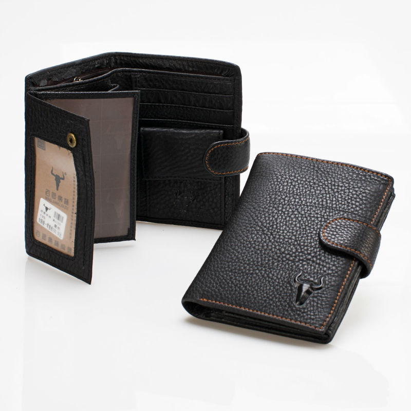 Men Increase Thickening Wallets Vintage Genuine Oil Wax Leather Individuation Purse Bifold Super Wallet Card Holder Coin Pocket(China (Mainland))