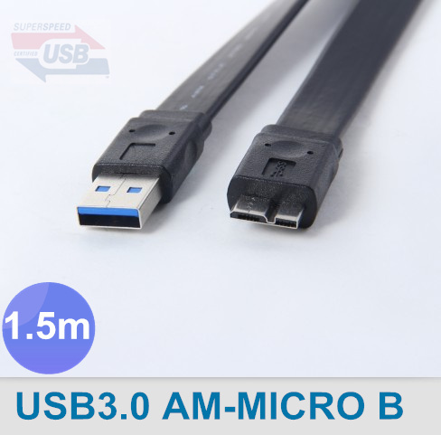 USB3.0 A Male to Micro B Extension Cable Flat USB3.0 Cable Micro B 1.5m 5ft 4.8Gbps Speed Support USB2.0 ,Free Shipping By FedEx<br><br>Aliexpress