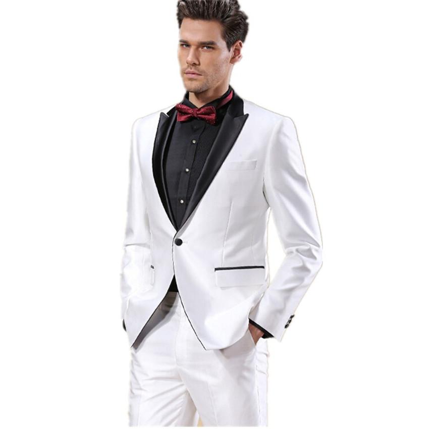 Trajes smoking blanco for Trajes de novio blanco para boda