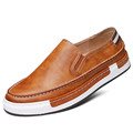 Vintage High Quality 2016 Fashion Men s Leather Shoes Leisure Slip on Men Loafers Thick Heels