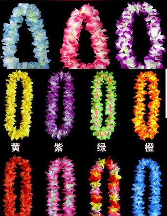 wedding Party cheerleader decoration hawaiian Flower necklace wreaths Grass skirts accessories necklace artifical flowers gift(China (Mainland))
