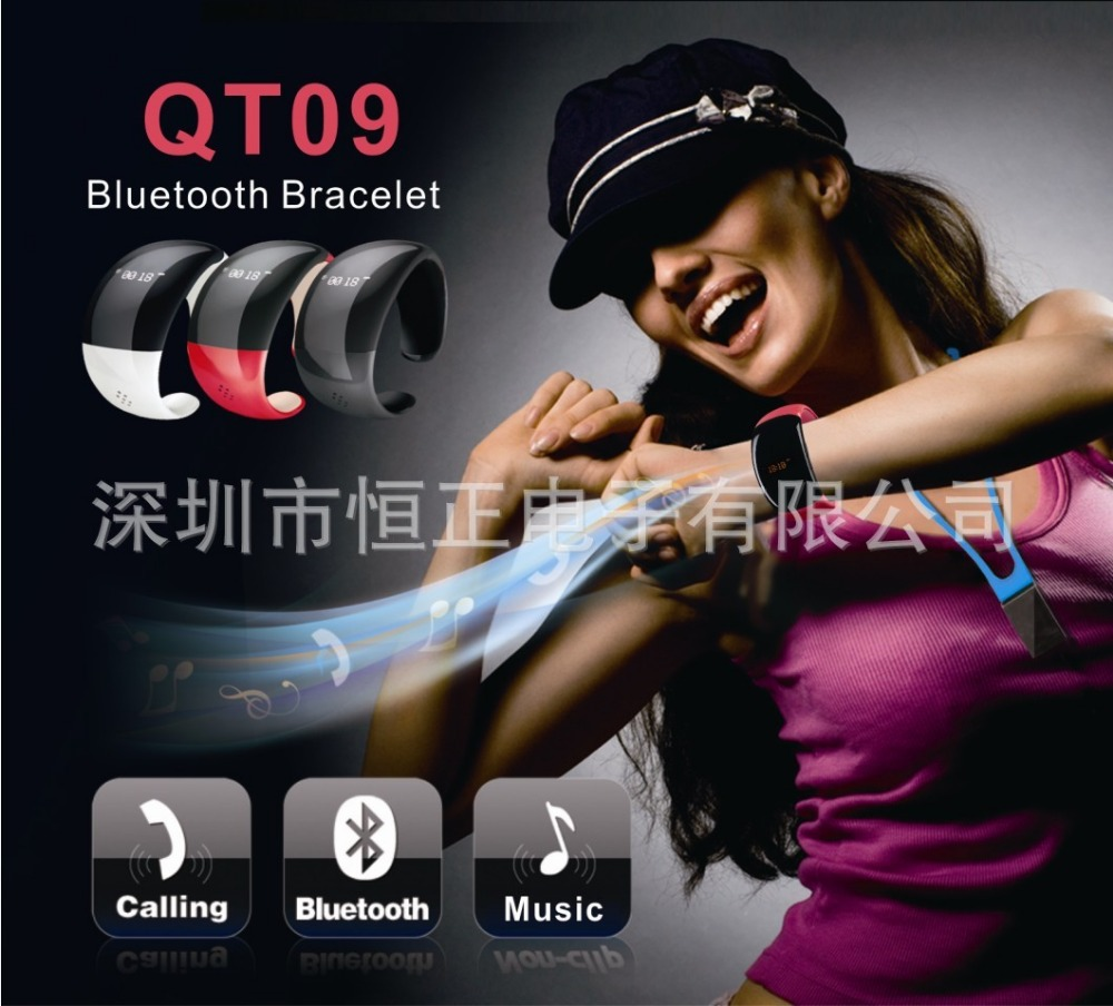 Manufacturers supply the latest fashion intelligent Bluetooth watches can answer the phone Bluetooth Bracelet Mp3 player(China (Mainland))